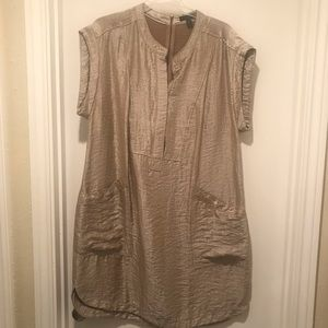 J.Crew Gold Crepe Dress NWOT Size 16
